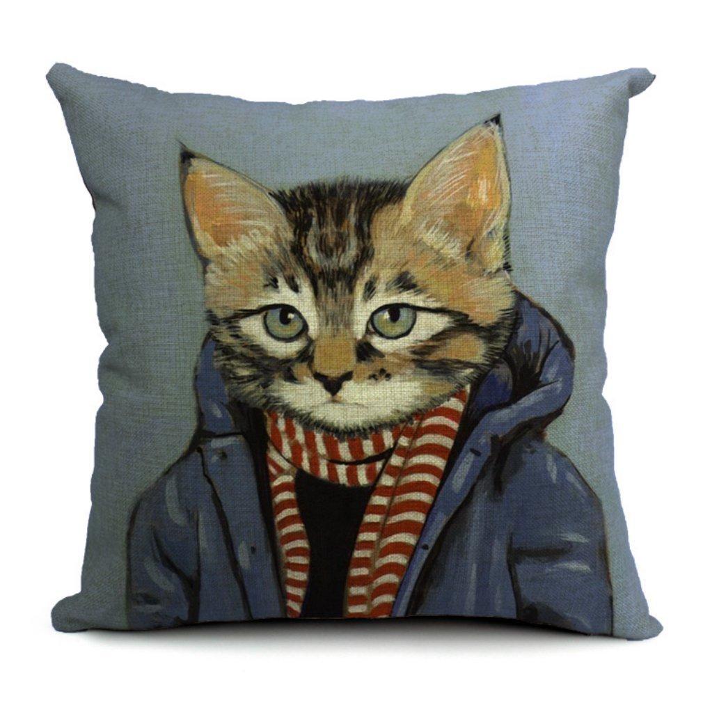 Housse de coussin motif chat – Arbre à chat